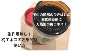 【子供の風邪予防・ひきはじめ】薬ではなく台所の万能薬「梅エキス」を!